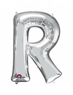 Aluminium-Ballon Buchstabe R silber 33cm