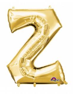 Aluminium-Ballon Buchstabe Z gold 33cm