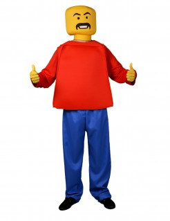 Spielfigur Kostüm blau-rot-gelb
