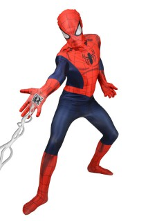 Marvel Spiderman Digital Morphsuit Lizenzware blau-rot
