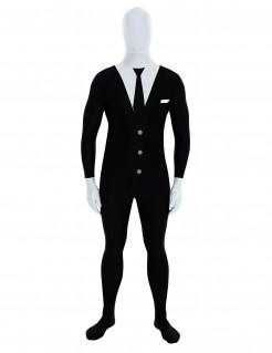 Anzug-Morphsuit Tuxedo-Kostüm schwarz-weiss
