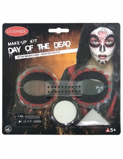 Make-up Set Skelett Dia de los Muertos