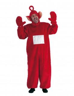 Teletubbie-Kostüm für Erwachsene - rot-weiß