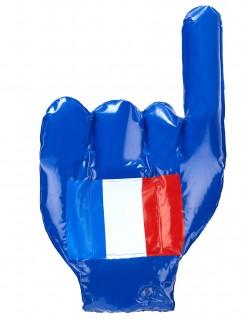 Aufblasbare Hand Frankreich-Flagge blau-weiss-rot