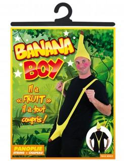 Frivoler Mankini Bananenmann 2-teilig gelb