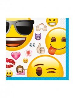 Papierservietten Lizenzartikel Emojis 16 Stück bunt