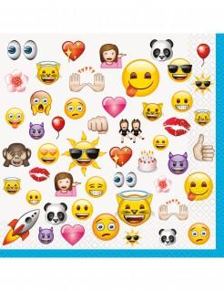 Große Papierservietten Lizenzartikel Emojis 16 Stück bunt