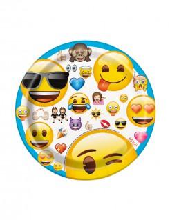 Pappteller Lizenzartikel Emojis 8 Stück bunt