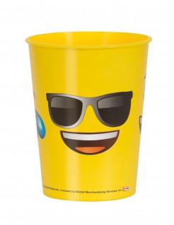 Trinkbecher Lizenzartikel Emojis mit Sonnenbrille bunt
