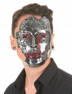 Blutende Steinmaske Phantommaske grau-weiss-rot