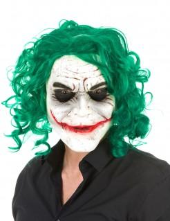 Halloween Maske Irrer Clown für Erwachsene bunt