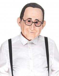 Lustige François Latex-Maske beige-schwarz