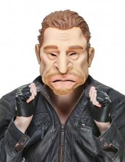 Latex-Erwachsenenmaske Rockstar Johnny witzige Musikstar-Maske hautfarben-braun