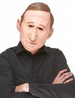 Lustige Latex-Maske Wladimir haut-braun