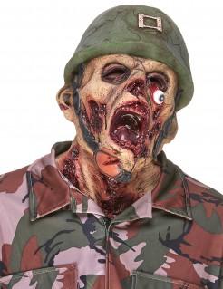 Halloween Zerfleischter Zombie Latex Maske für Erwachsene bunt