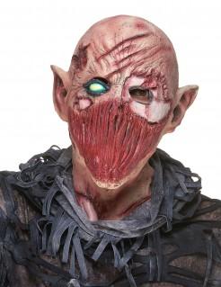 Verwundetet Horror Zombie Latex Maske für Erwachsene bunt