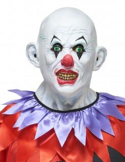 Halloween Maske schauriger Clown für Erwachsene bunt