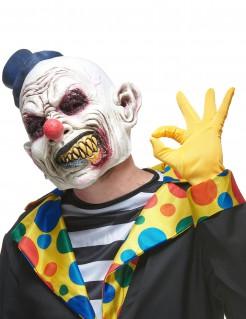 Latex Maske Halloween wütender Clown für Erwachsene bunt