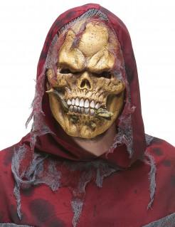 Halloween Skelett Ungeheuer Maske mit Eidechse bunt