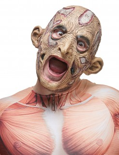 Latex Maske offene Wunden Anatomie bunt