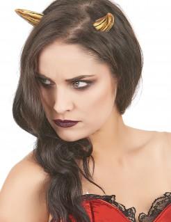 Monster Teufelshörner für Erwachsene gelb-schwarz