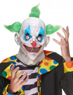 Gruseliger Clown Halloween Latex Maske bunt