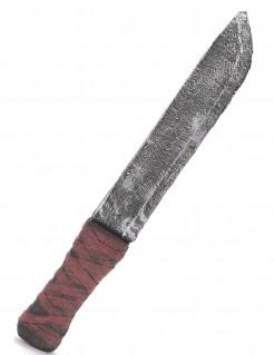 Horror Messer Halloween Accessoire grau-rot