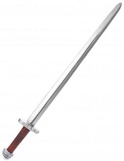 Ritter-Schwert aus Polyurethan silber-braun
