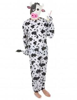 Witziges Kuh Kostüm schwarz-weiss