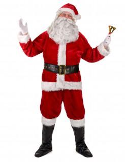Deluxe Weihnachtsmann Kostüm rot-weiss