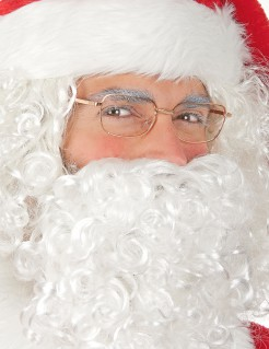 Originelle Weihnachtsmann Brille transparent