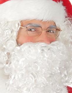 Originelle Weihnachtsmann Brille transparent