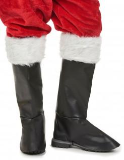 Weihnachtsmann Stiefelstulpen überstiefel schwarz