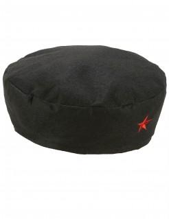 Revolutionär Barett-Mütze schwarz-rot
