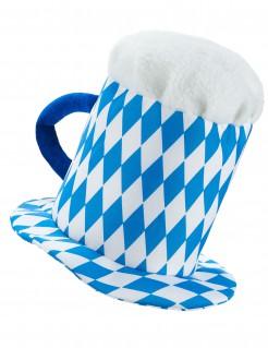 Oktoberfest Maßkrug Partyhut blau-weiss