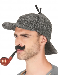 Engländer Detektiv Kappe braun-weiss