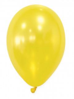 Metallic Luftballons Ballons Party-Deko 50 Stück gelb 30cm