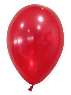 Metallic Luftballons Ballons Party-Deko 50 Stück rubinrot 30cm
