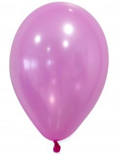 Luftballons 50 Stück Metallicoptik rosa