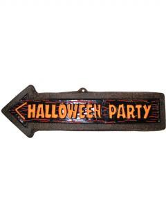 Halloween-Schild Wegweiser braun-orange-schwarz 57x17 cm