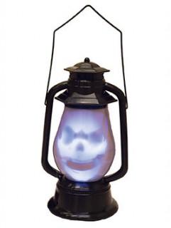 Halloween-Lampe Geist mit Sound schwarz 30cm