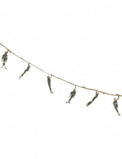Halloweenparty-Girlande mit Skeletten braun-grün-weiss 100cm
