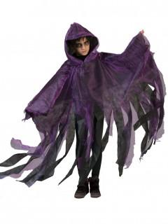 Halloween Geister Umhang für Kinder schwarz-violett