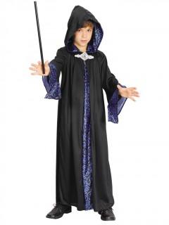 Magier-Kinderkostüm Dunkler Zauberer schwarz-violett