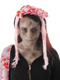 Halloween-Haarreif mit blutigem Schleier