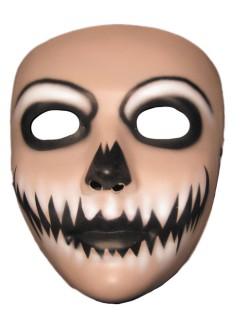 Harlekin-Maske Halloweenmaske für Herren beige-schwarz