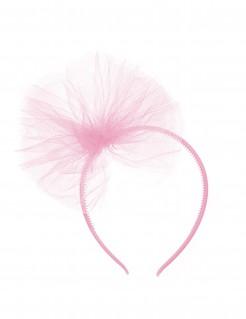 Haarreif mit Tüll für Kinder rosa
