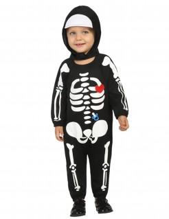 Kinderkostüm Skelett schwarz-weiss