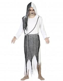 Schauriger Geist Halloweenkostüm Gespenst weiss-schwarz