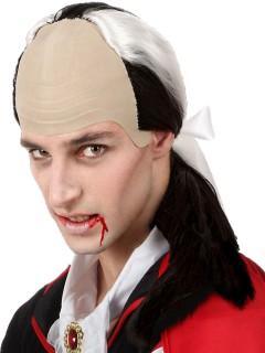 Vampir-Perücke für Herren mit Halbglatze Halloween-Accessoire